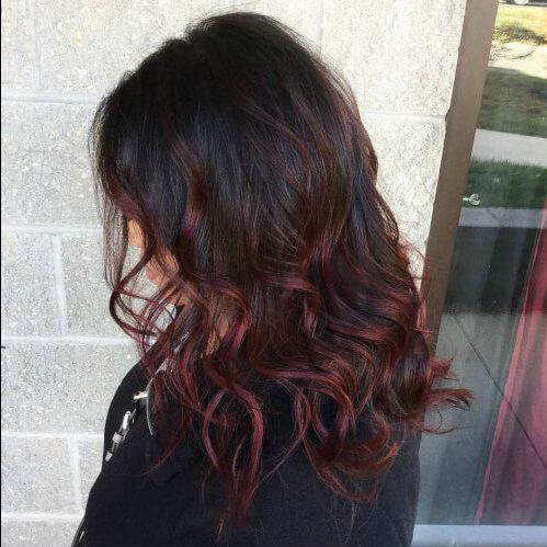 Red Balayage Ombre